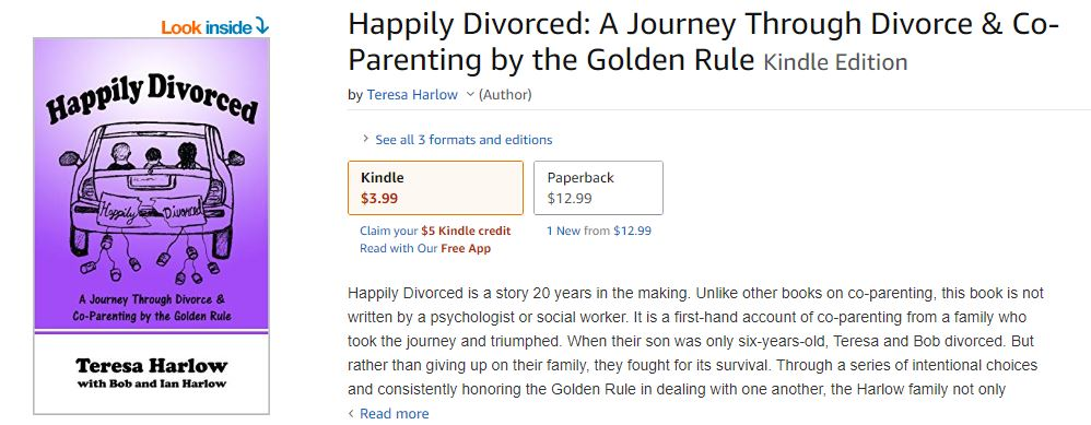 Happily Divorced eBook available on Amazon