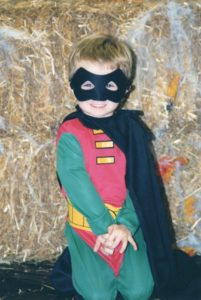 Ian was happy to be Robin for two years straight when he was very young.  Ironically, mom was also Robin when four years old and again as an adult at 40 years old.  This doesn't help you with your co-parenting efforts but fun fact just the same.